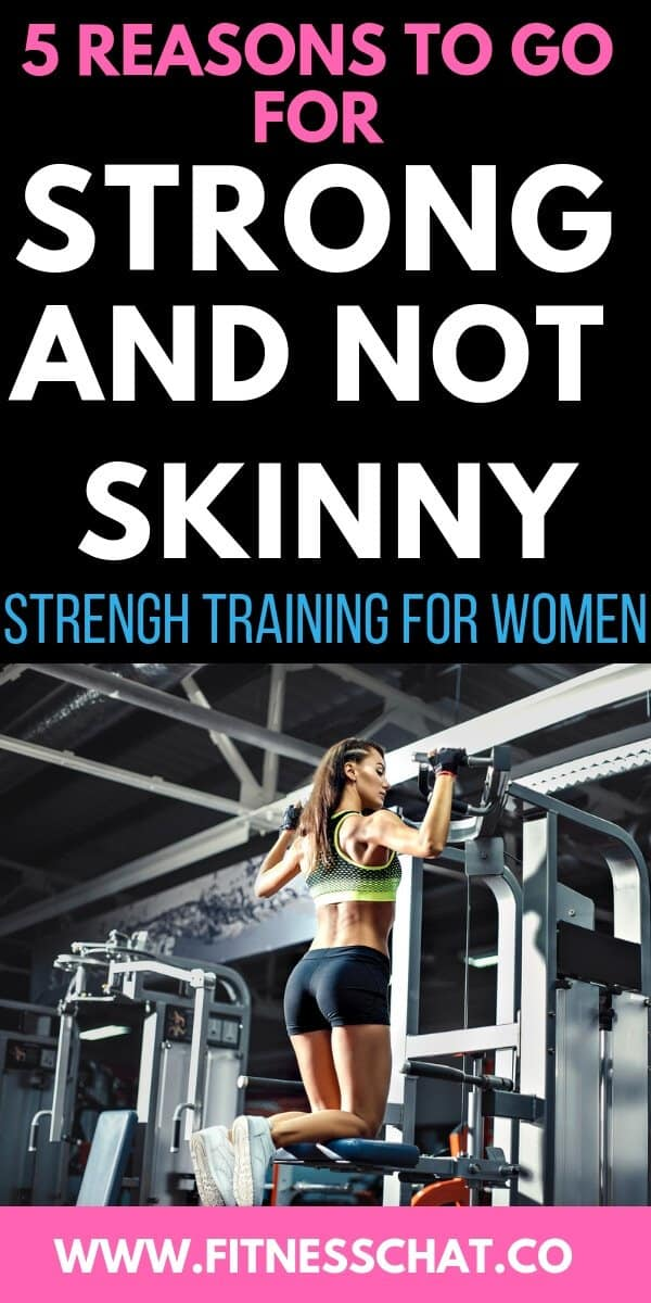 Why strength training for women to lose weight is important.