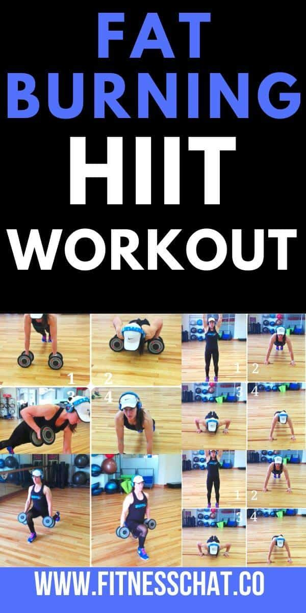 HIIT workouts for women at home or gym workout routine