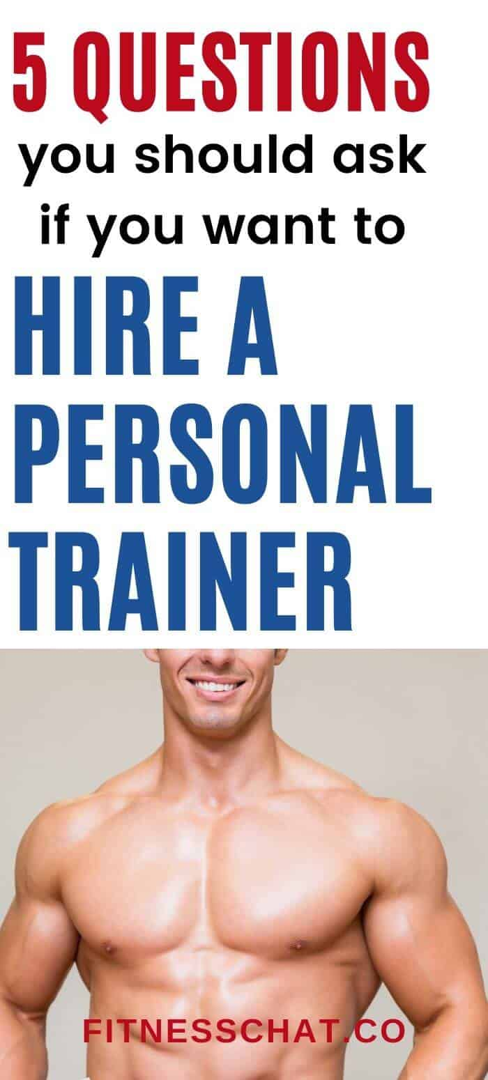 how to hire a personal trainer. how long should i hire a personal trainer