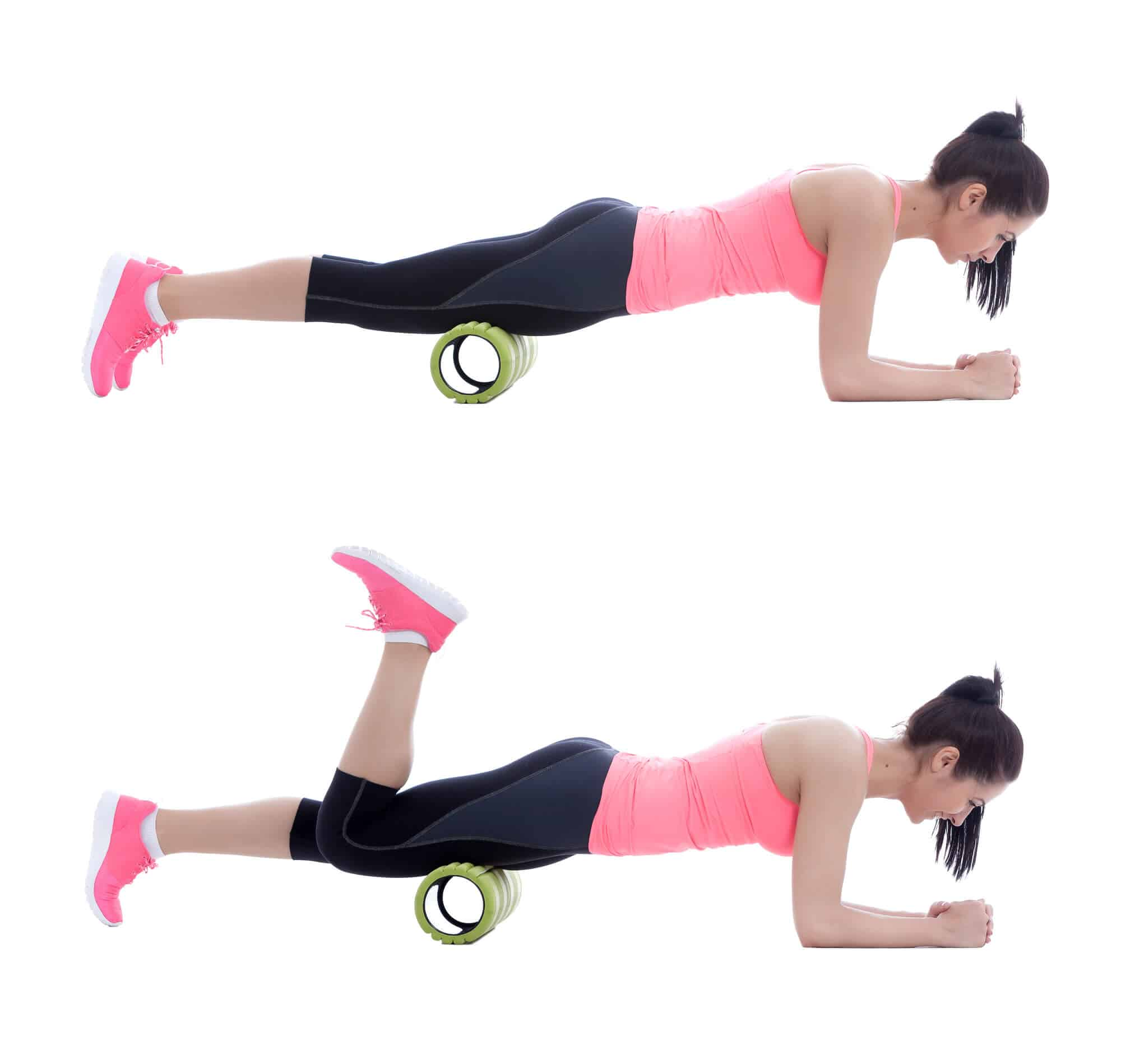 Foam rolling to relieve sore muscles after workout. How to foam roll and the best foam roller exercises for legs