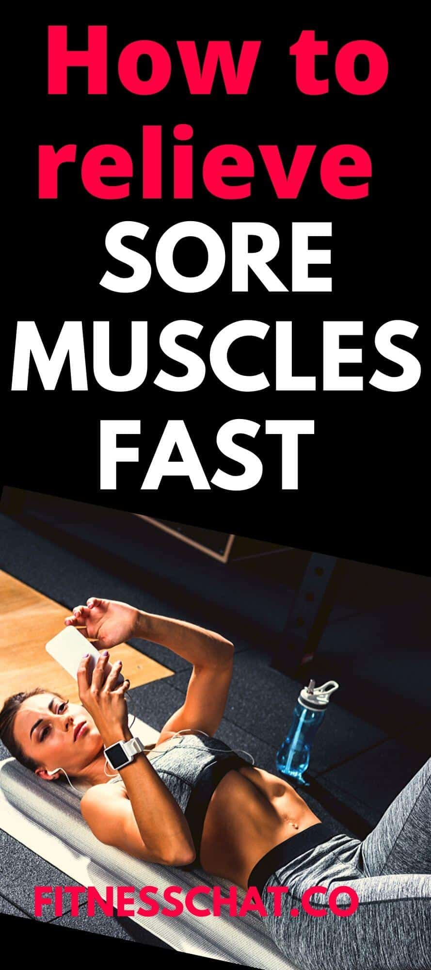 how to relieve sore muscles fast. best remedy for sore muscles after workout and best way to treat sore muscles after a workout