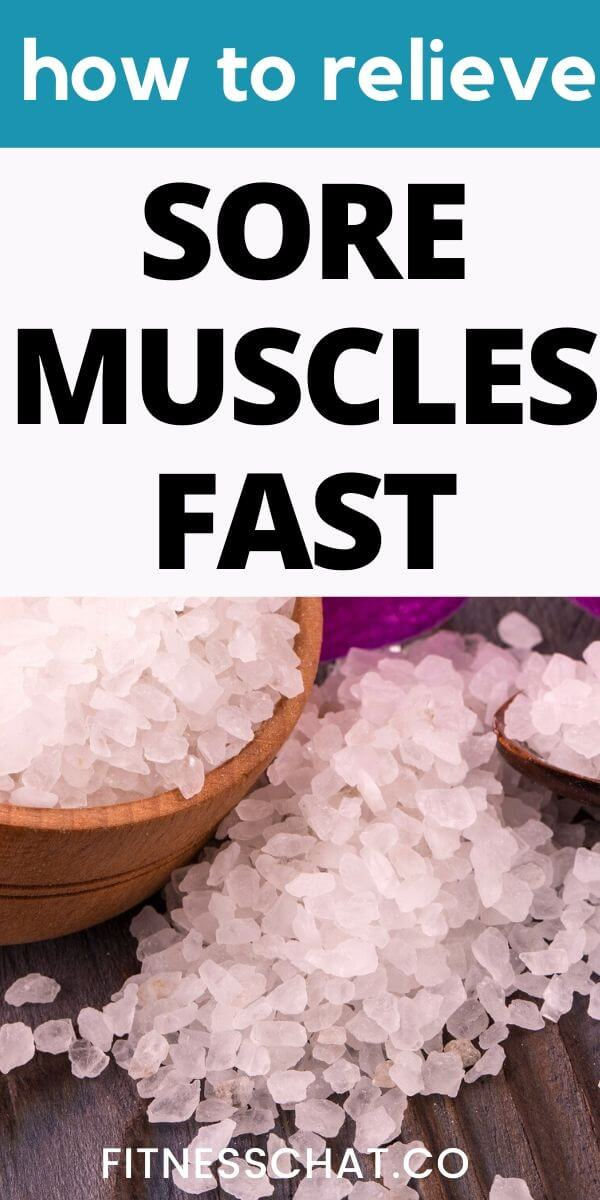 how to relieve sore muscles fast