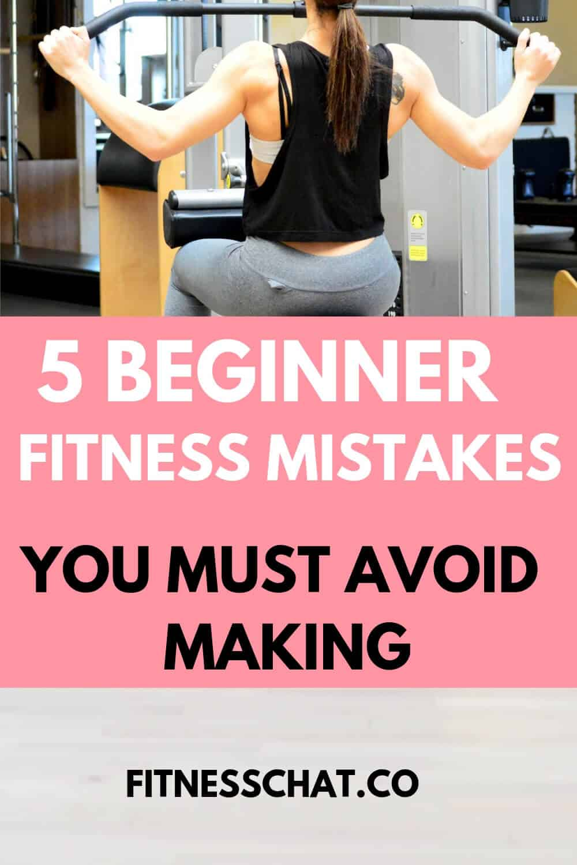 Beginner fitness mistakes you must avoid making