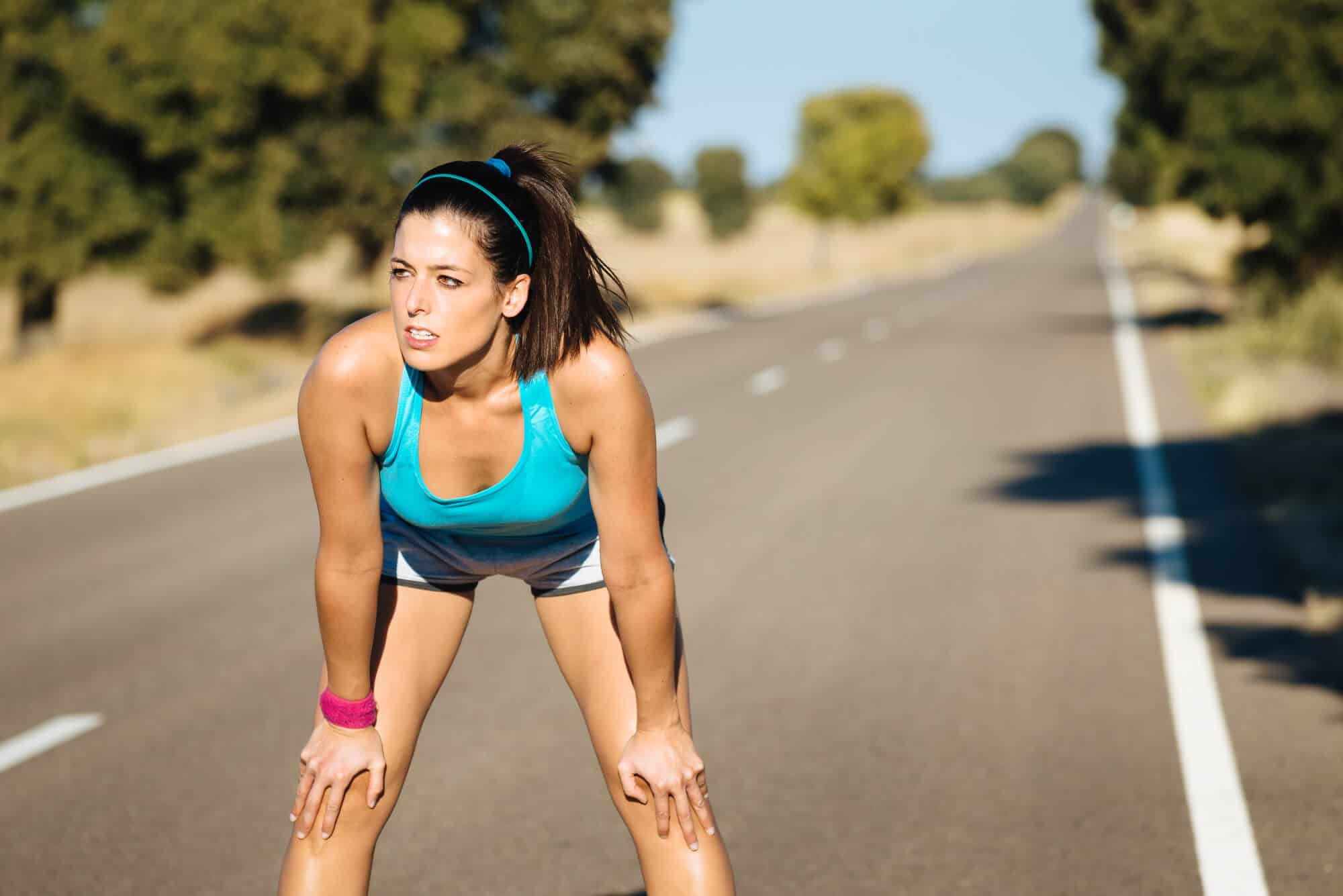 The recommended breathing technique for running is deep belly breathing through the mouth.