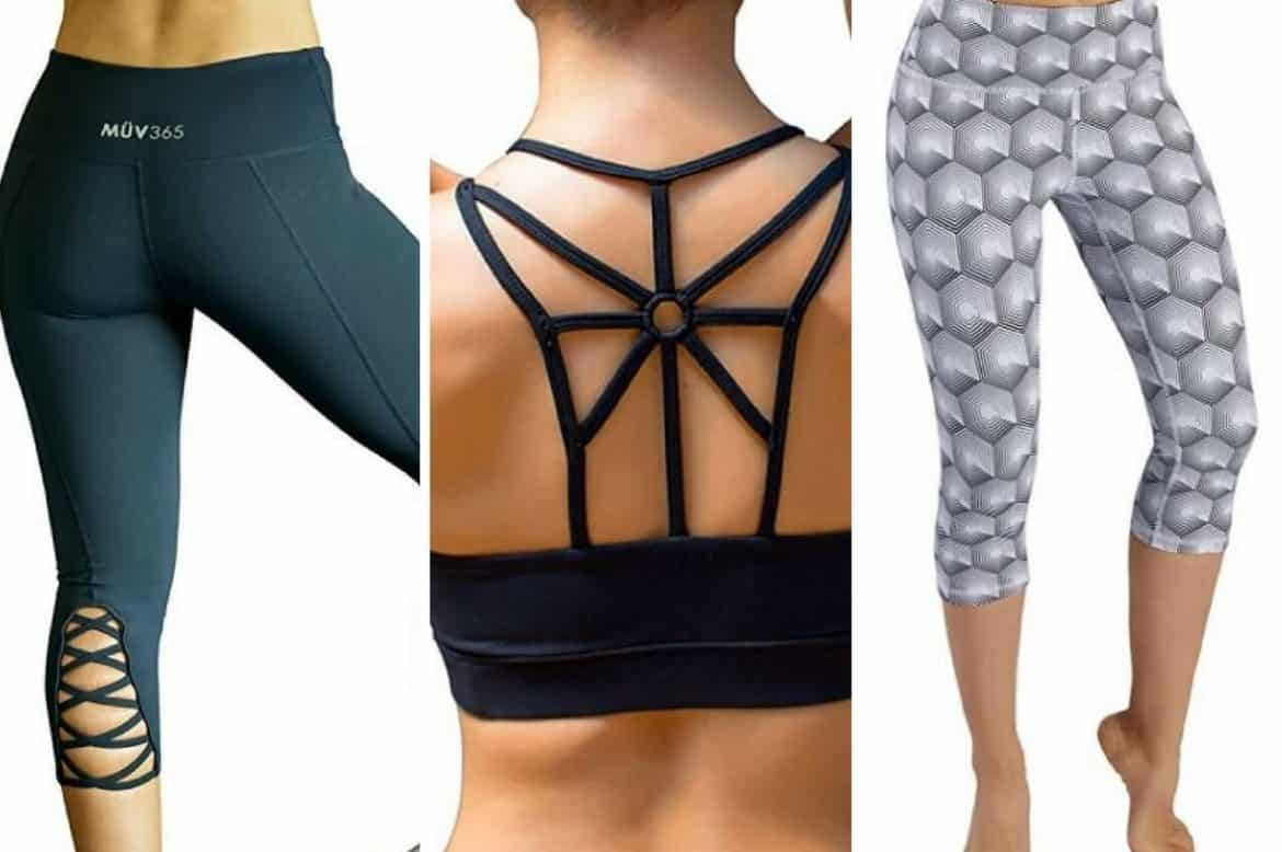 CHEAP WORKOUT CLOTHES - CUTE CAPRI PANTS AND BRAS