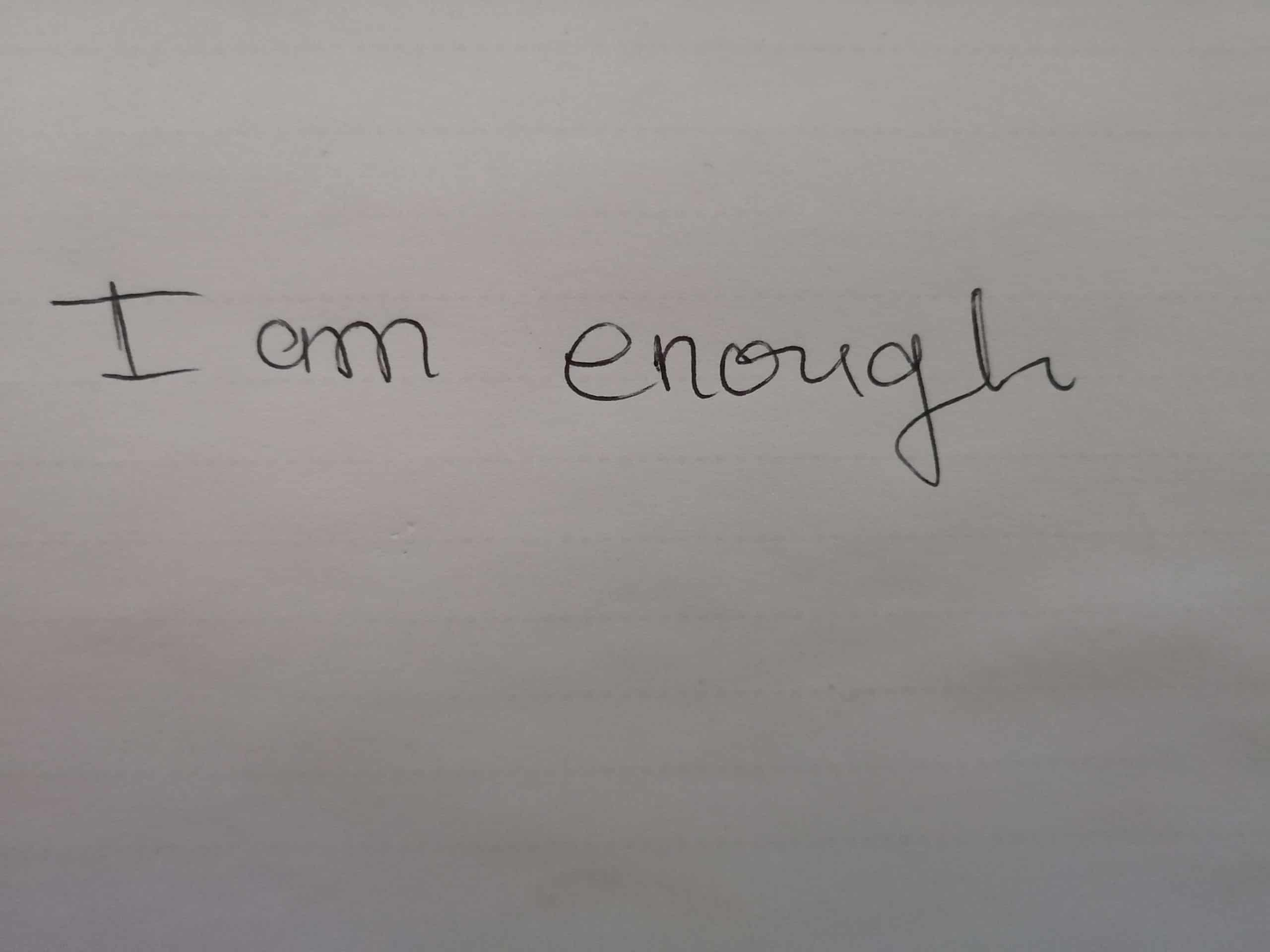I am enough to get fit and lose weight