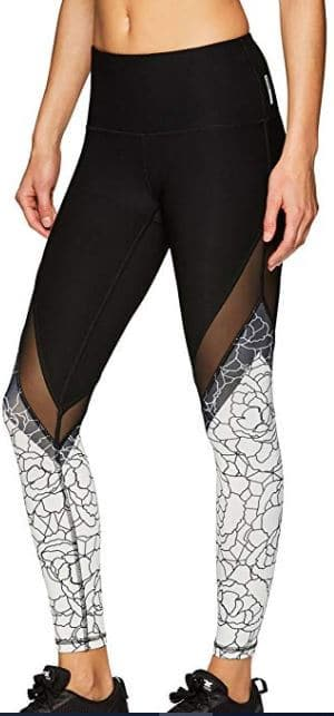 Athleisure block mesh leggings for women