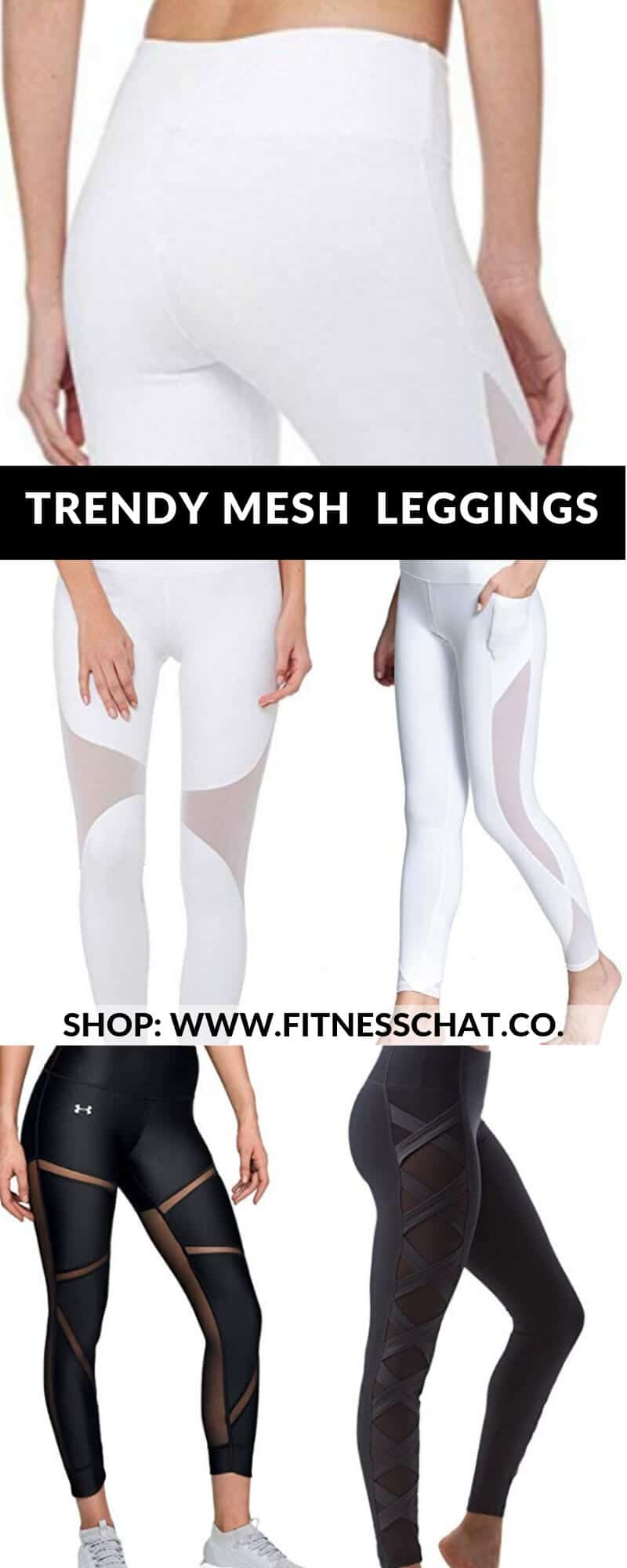 Trendy workout clothes and mesh leggings, yoga pants , black leggings outfits