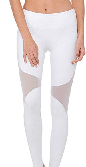 workout clothes and white yoga pants for women