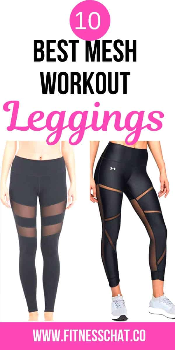 black gym mesh leggings for women