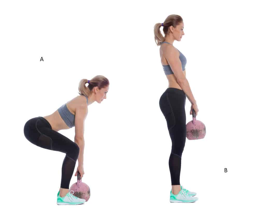 kettlebell deadlifts for killer leg routine are a great alternative for conventional deadlifts