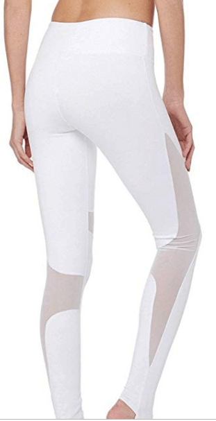 white mesh leggings workout clothes