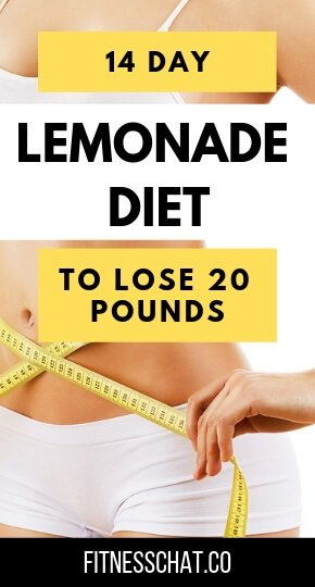 14 DAY lemonade diet to lose 20 pounds