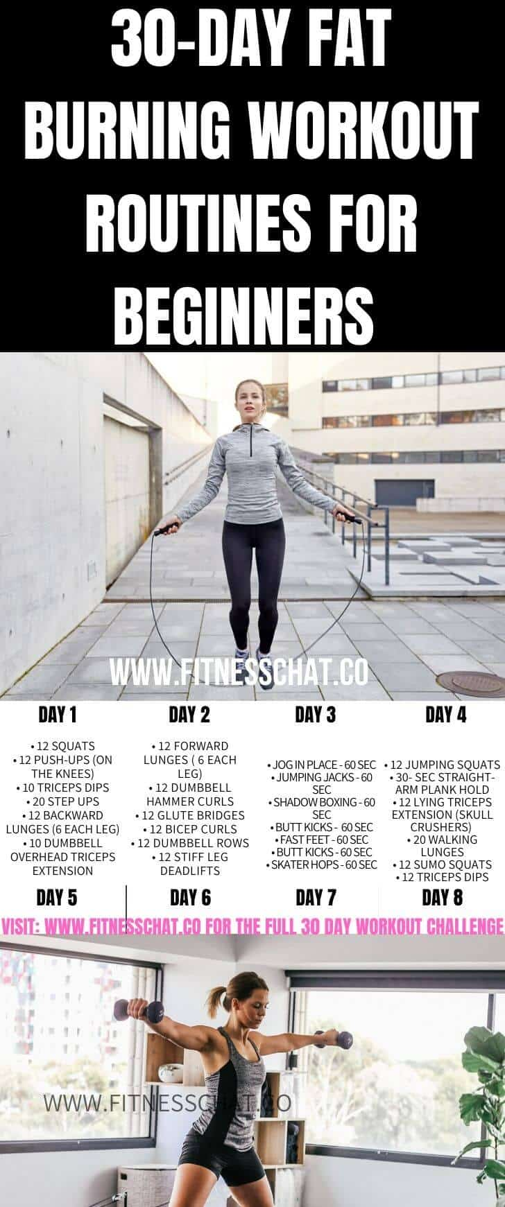 30-Day Fat Burning Workout Routines for Beginners. Join the 30-day challenge for a full body workout