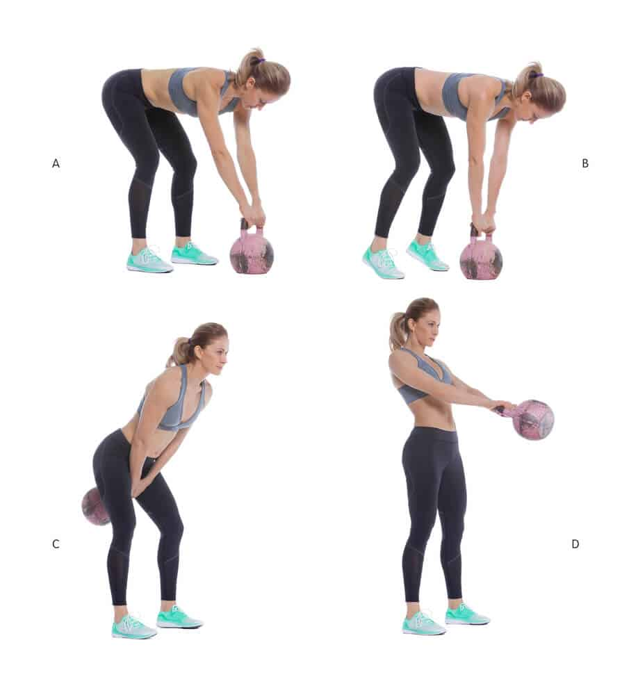 Fat blasting kettlebell swings