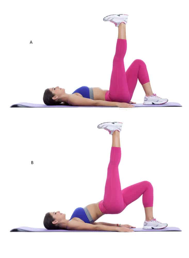 Glute bridges workout routine for beginners