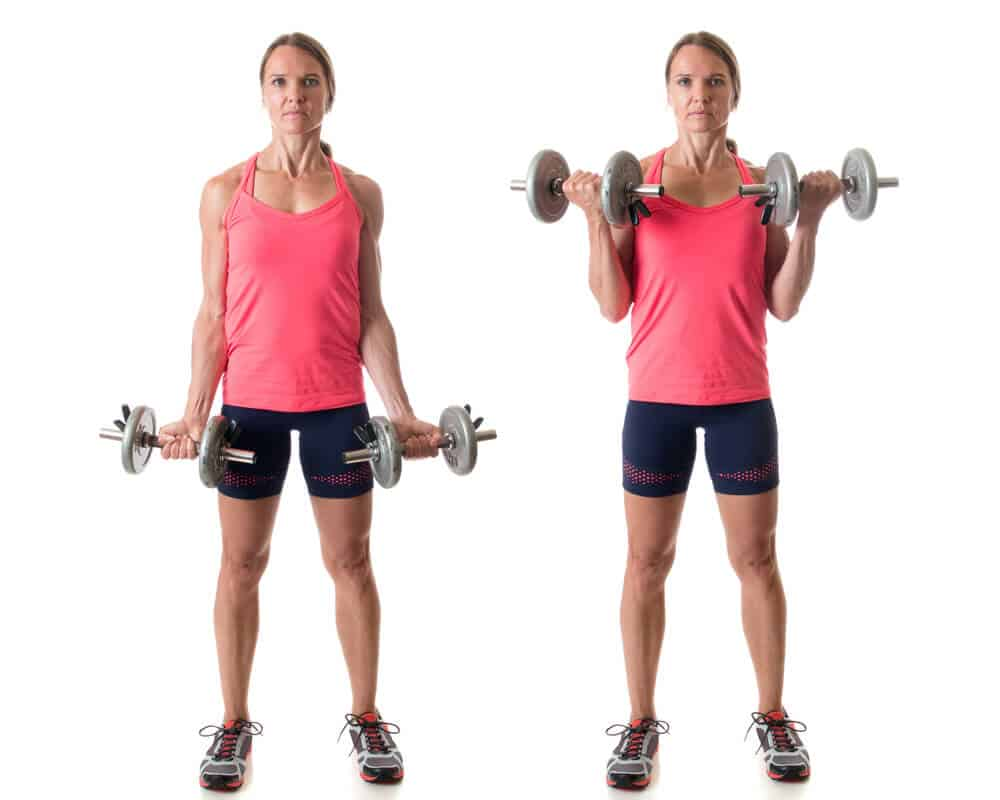 How to do bicep curls for women