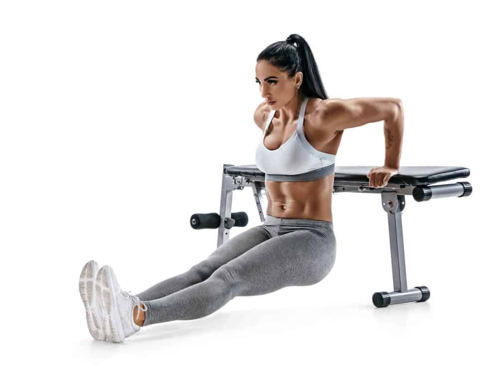 Tricep dips. Week 2 of the 30-Day Full Body Workout Routines for Beginners