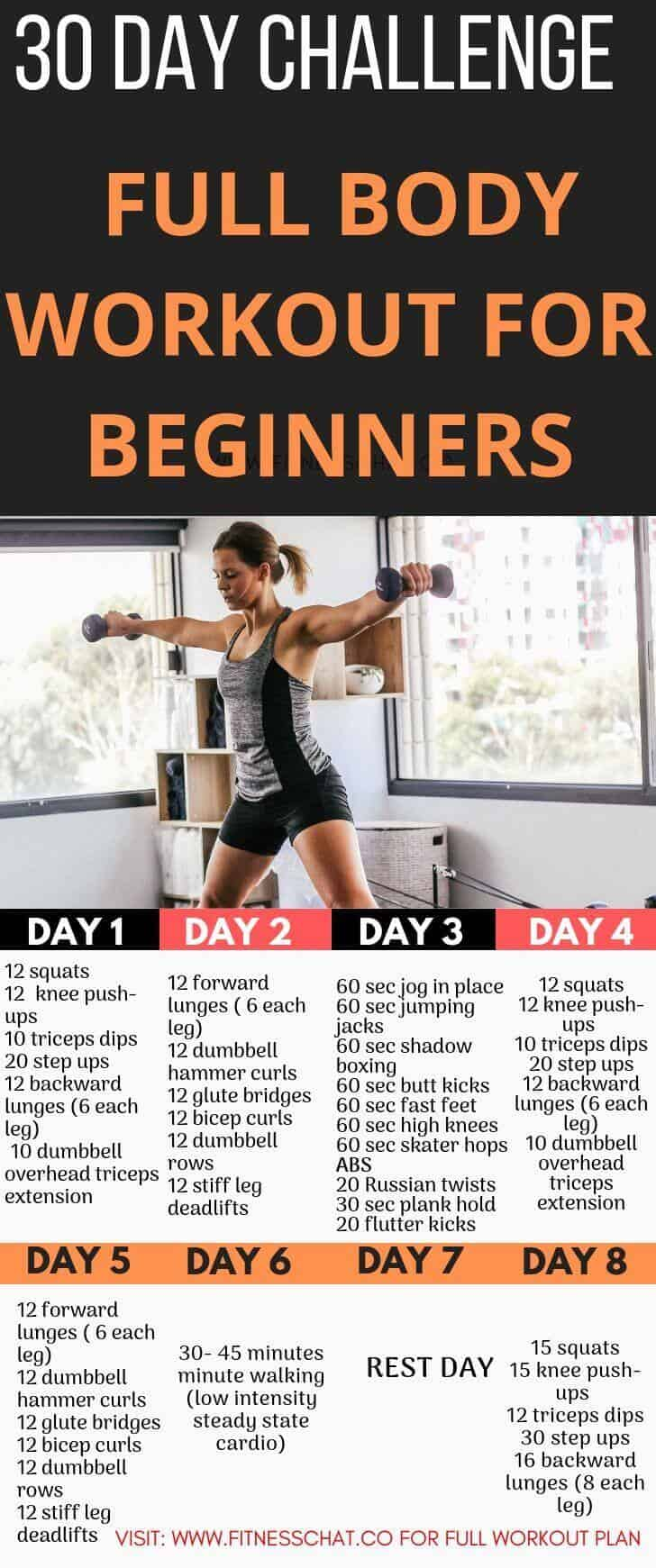 workout plan for beginners. 30 day workout challenge