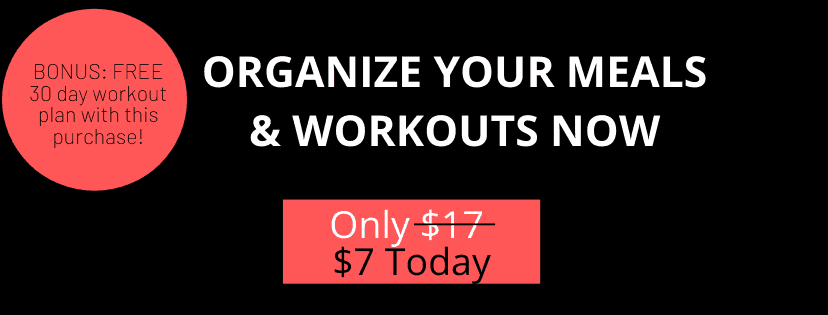 A5 Black and white fitness planner, for weight loss now $7