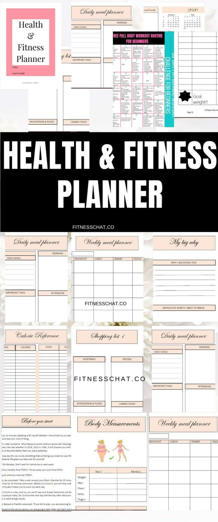 weight loss journal. Health and fitness journal organizational printables   weight loss tracker