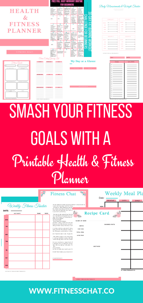 Health & fitness planner printable