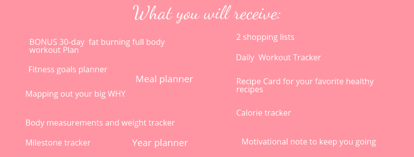 KEEP TRACK OF YOUR DIET & WORKOUTS WITH A HEALTH & FITNESS PLANNER (PRINTABLE)