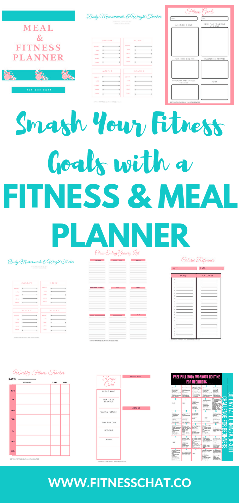 fitness & meal planner printable