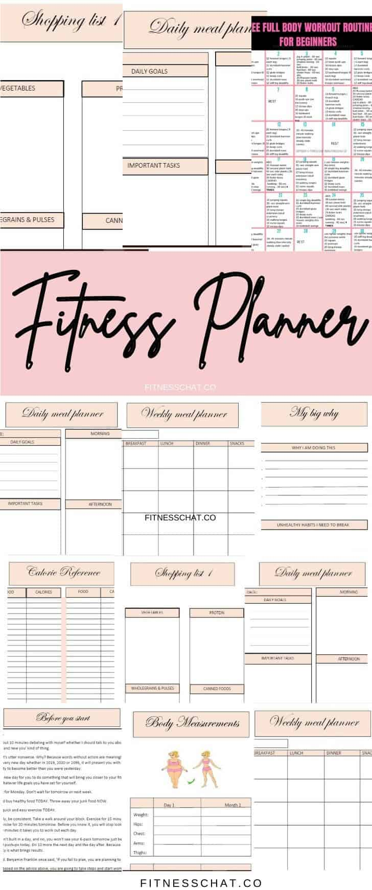 fitness planner printable. Weight loss journal ideas diy