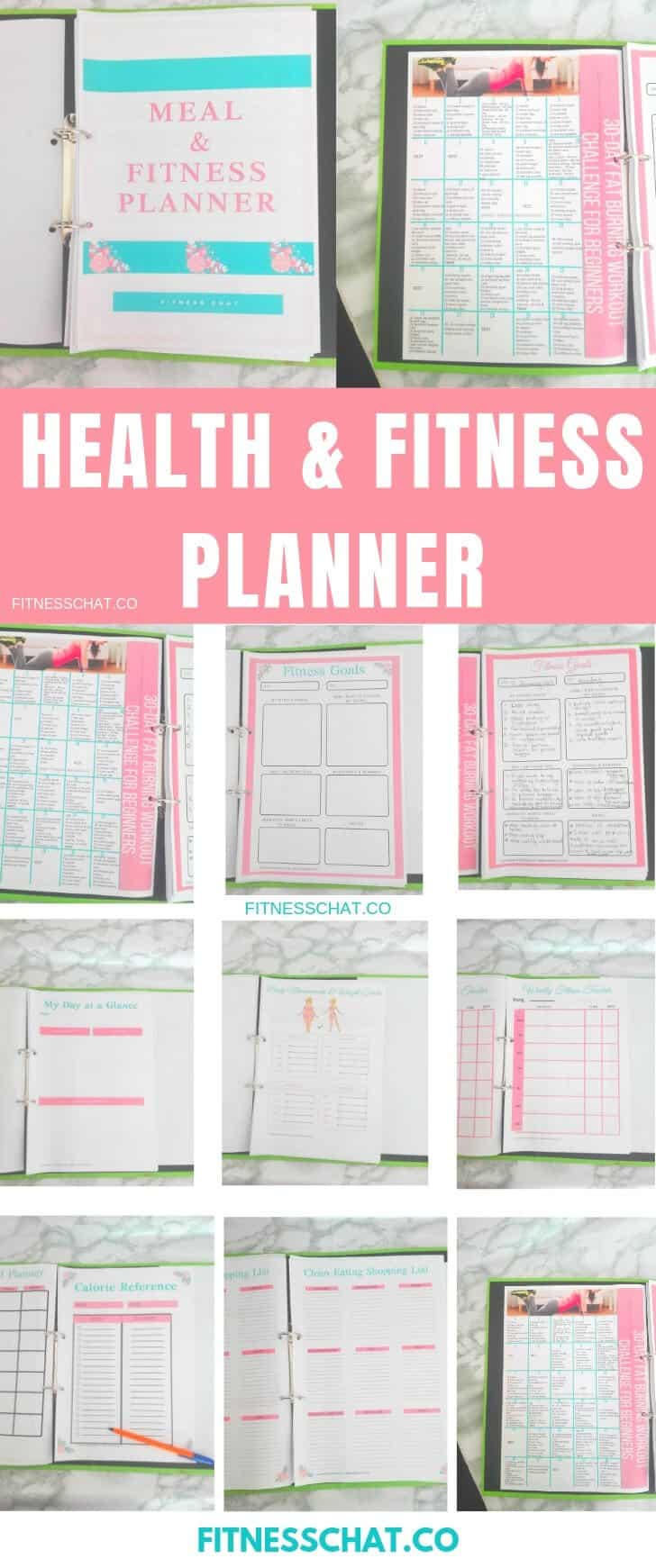picture relating to Free Printable Weight Loss Planner identified as Printable Fitness and Health Planner in the direction of Guidance By yourself Smash Your