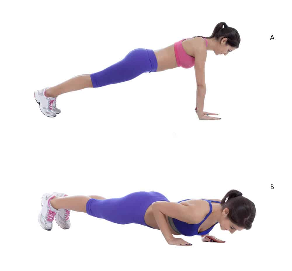 How to Do Push Ups For Female Beginners to tone flabby arms