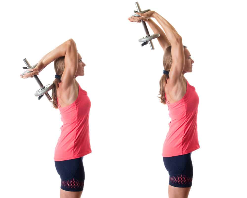 How to do Overhead Tricep Extension to banish arm fat