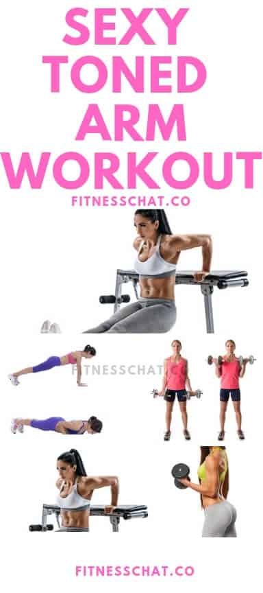 Banish flabby arms and arm fat with this killer arm workout for women. How to tone flabby arms- ultimate arm toning exercises for females