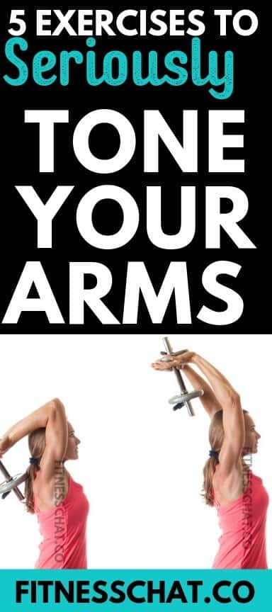 Triceps extensions are one of the best arm toning exercises for females. how to tone flabby arms