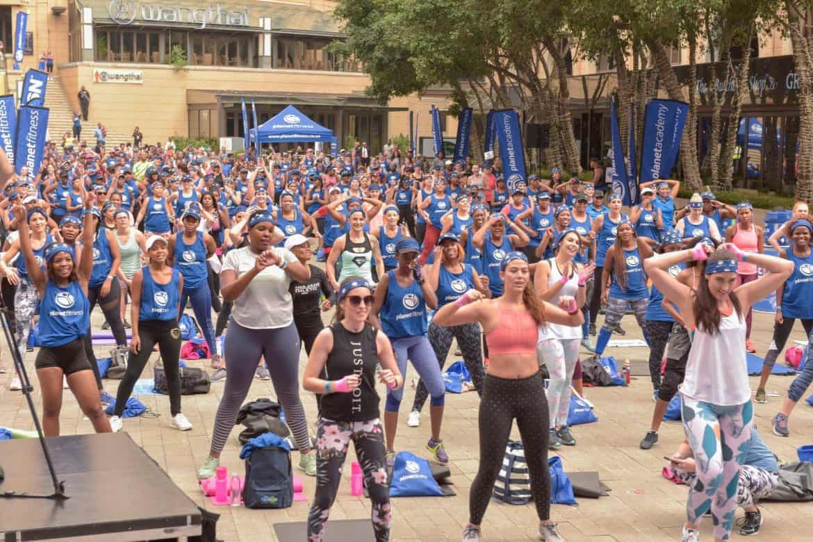 Planet Fitness Sweat Workout Party at Nelson Mandela Square