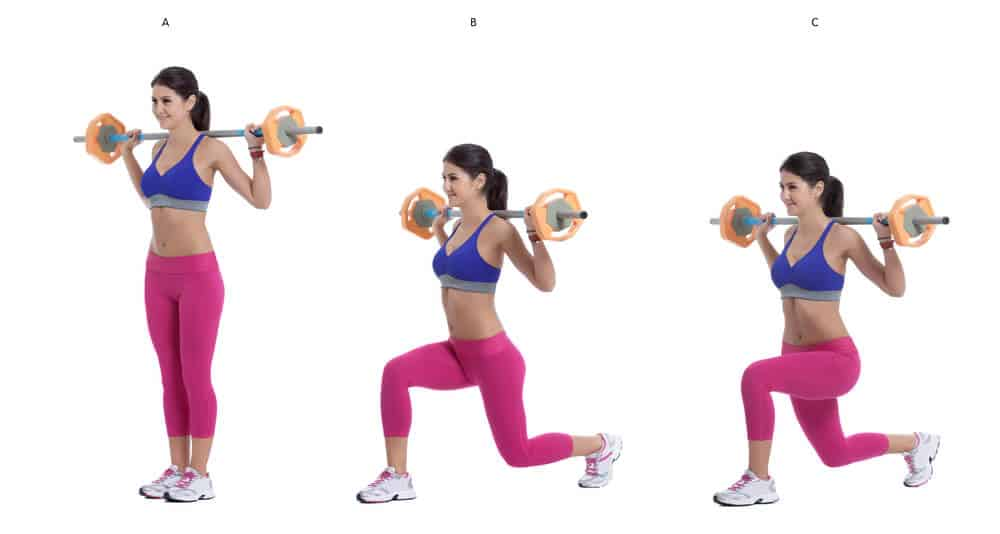 How to do Walking lunges with barbell