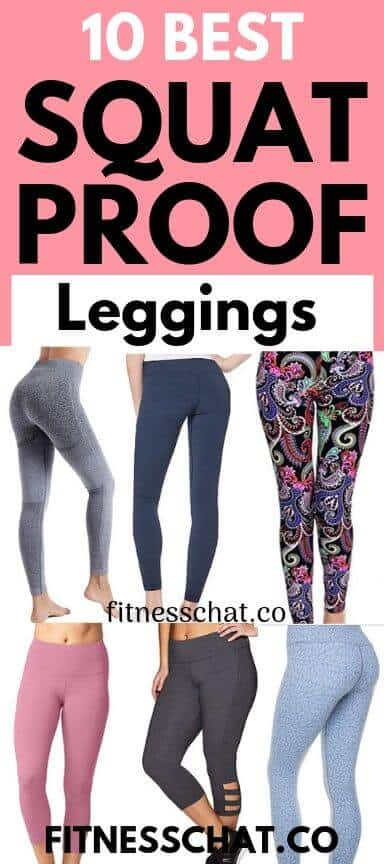 A selection of 6 of 10 best squat proof leggings for you