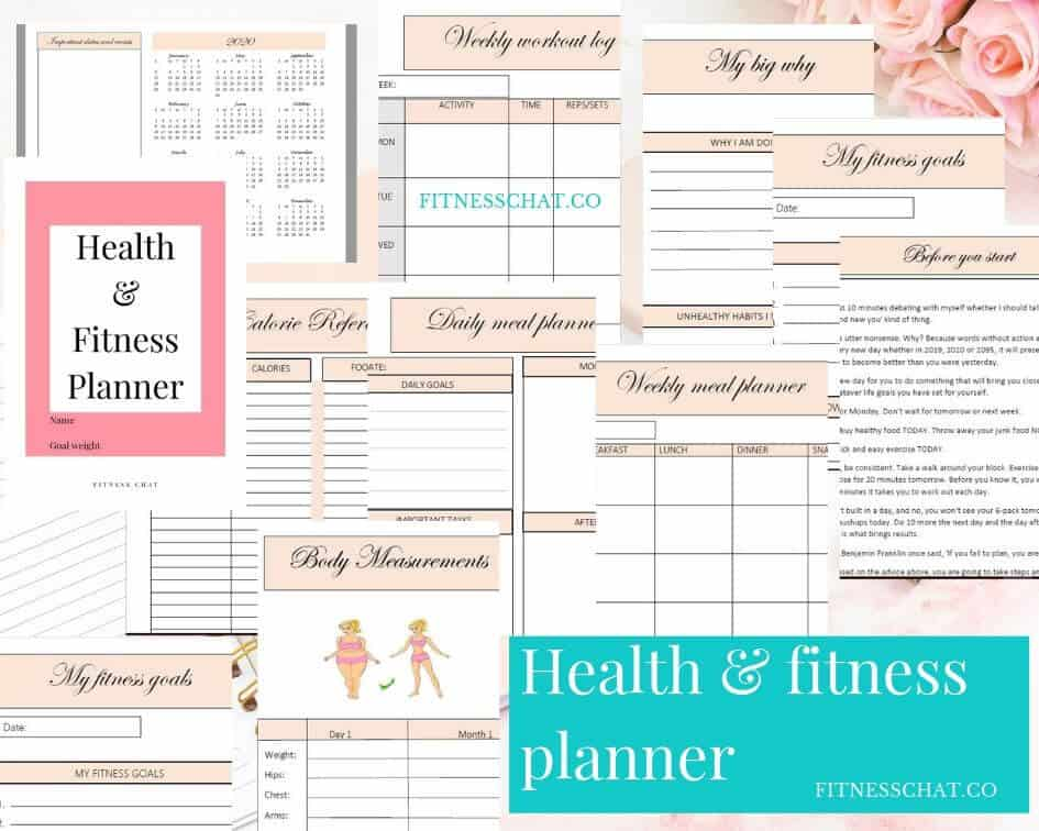 Set Measurable Goals with a fitness planner
