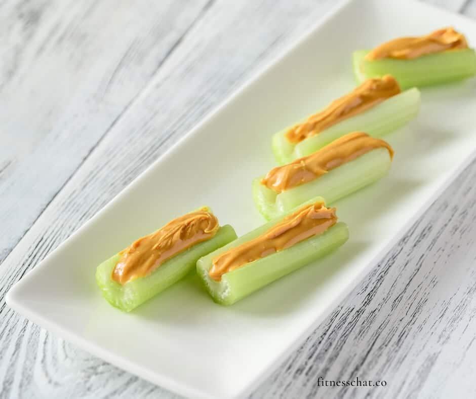 celery with peanut butter