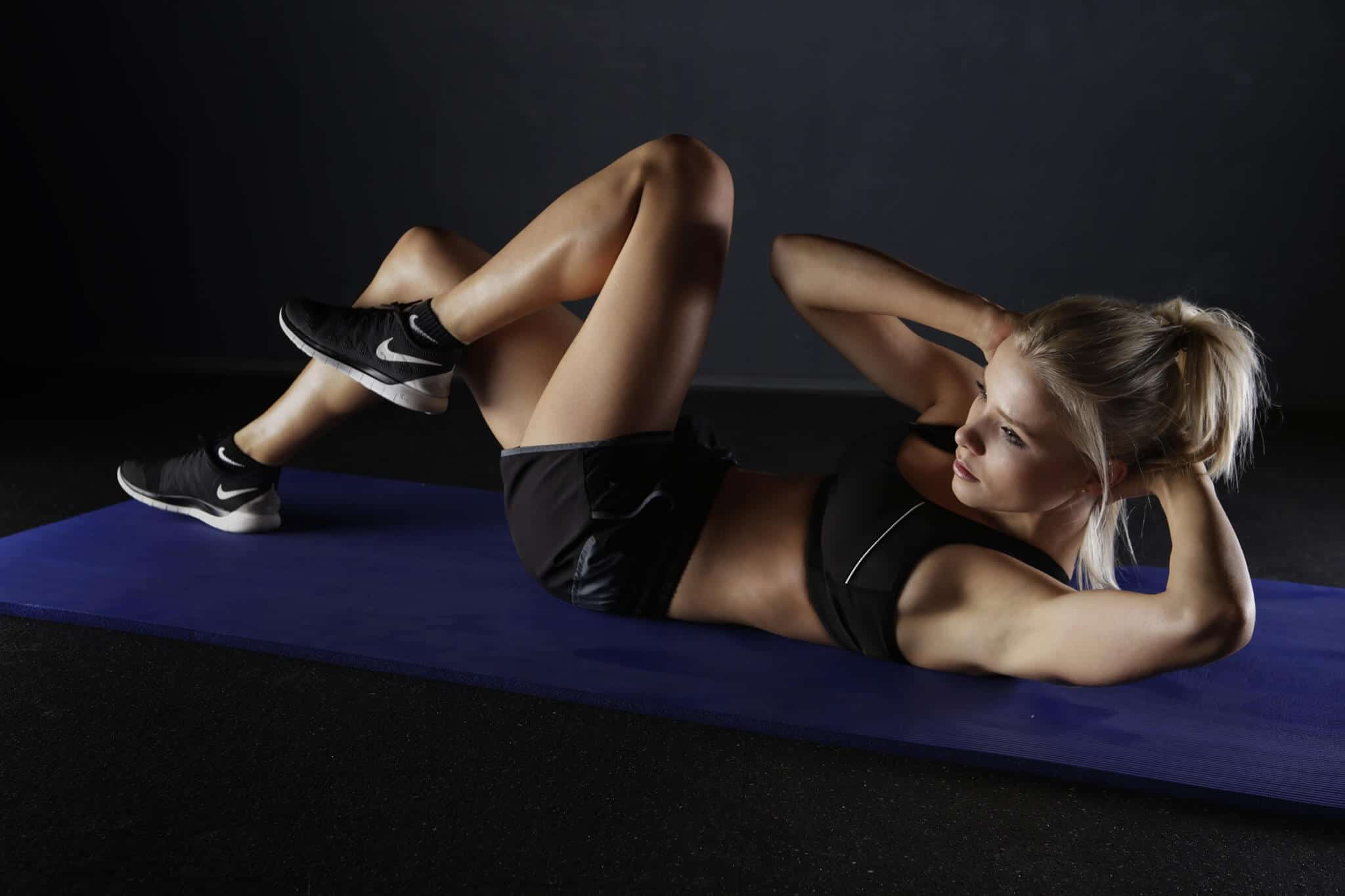 Bicycle crunches also known as Bicycle maneuver are the best ab exercise for beginners