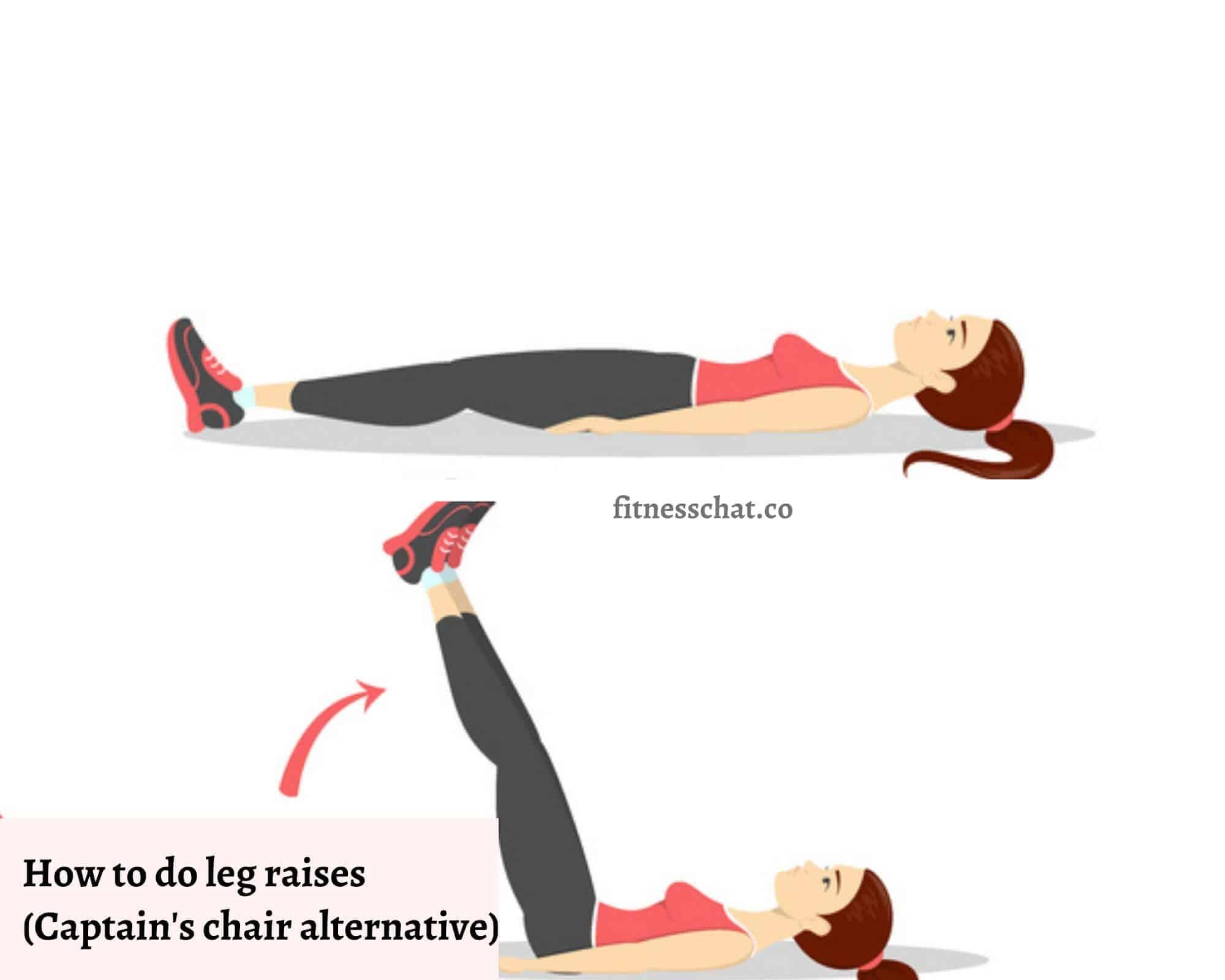 How to do leg raises (Captain's chair alternative at home)