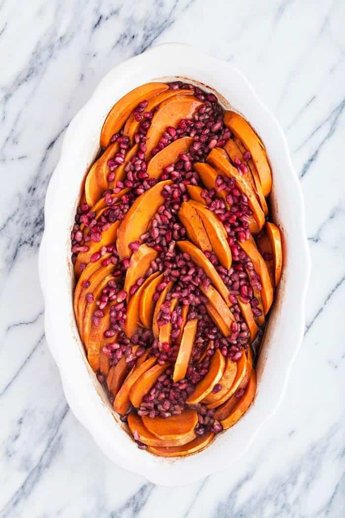 healthy holiday recipes for christmas-baked sweet potatoes