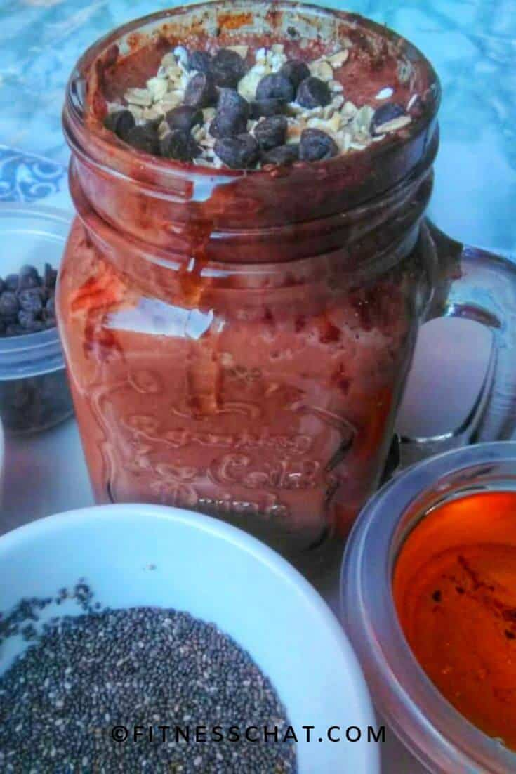 chocolate chip overnight oats
