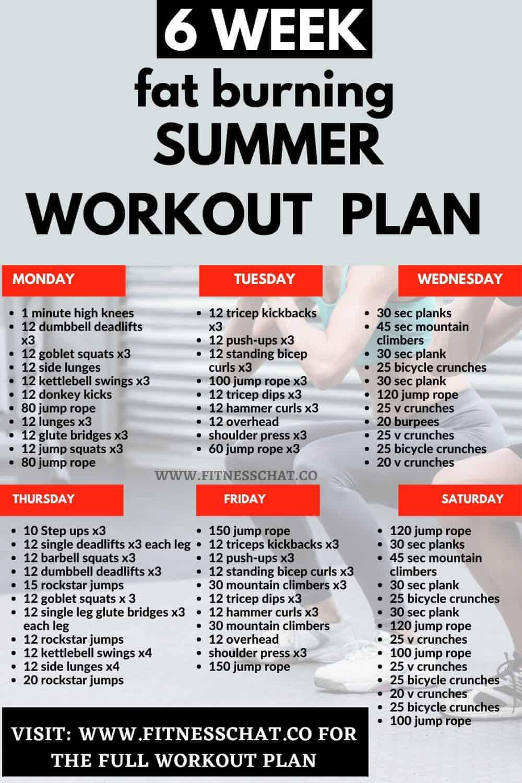 Summer Workout - 4-Week summer body Workout Plan